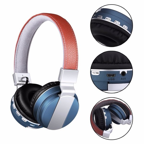 Leather gaming headband BT008 Wireless Bluetooth for Sport HIFI headset for Media music mp3 bluetooth headphones with microphone