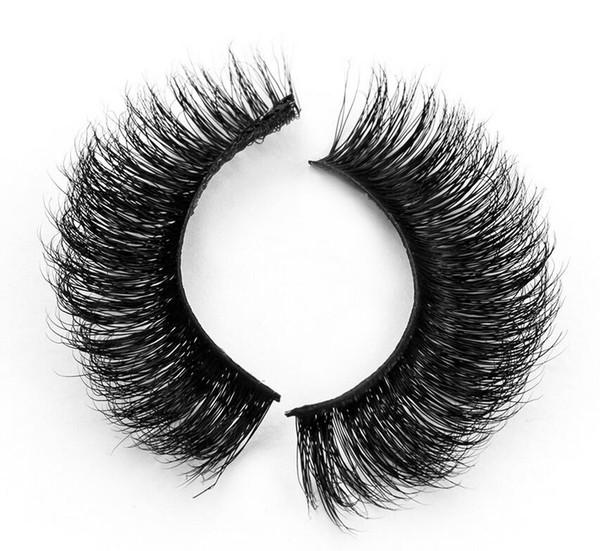 3D-MA09 Wholesale Natural 3D 100% Real Mink False Eye Lashes/ Mink Individual Fake Eyelashes Extensions For Makeup Free Shipping