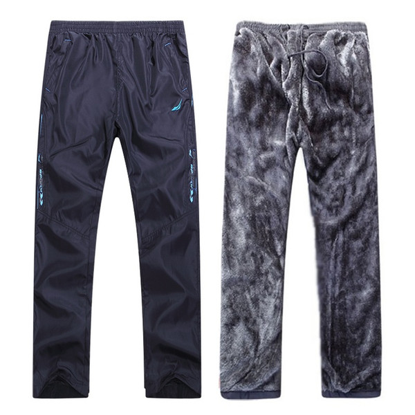 2018 new winter pants men fleece thermal trousers men keep warm in cold days anti-wind size l to 3xl thumbnail