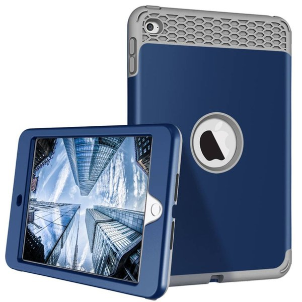 For iPad mini 1/2/3 A1599 A1600 A1601 Armor Shockproof Heavy Duty Silicone Hard Case Cover Protector Shell+Stylus Pen+Film.