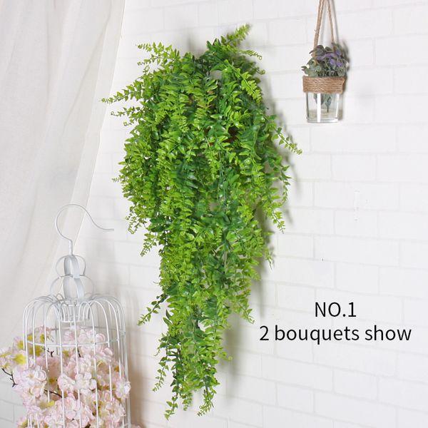 gefälschte hängende Pflanze künstliche grüne Pflanze verlassen Wand Reben Home Hotel Dekoration Balkon Korb Kep Zubehör Dekor Blume Simulation Rattan