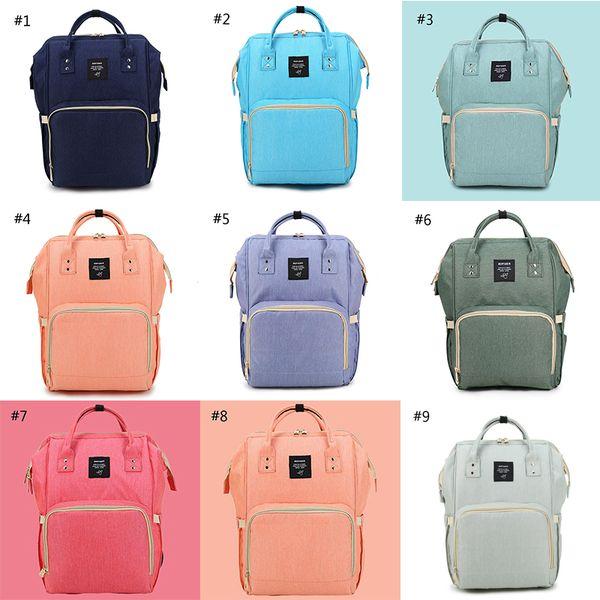 top popular Mummy Maternity Nappy Bag Large Capacity Baby Bag Travel Backpack Desiger Nursing Bag for Baby Care Diaper Bags 20pcs 2021