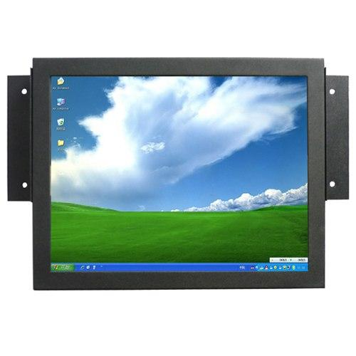 10.4 Inch Input VGA HDMI VEDIO SKD Open Frame Metal Cover Industrial PC Monitor with Touch Screen , Car PC POS Display