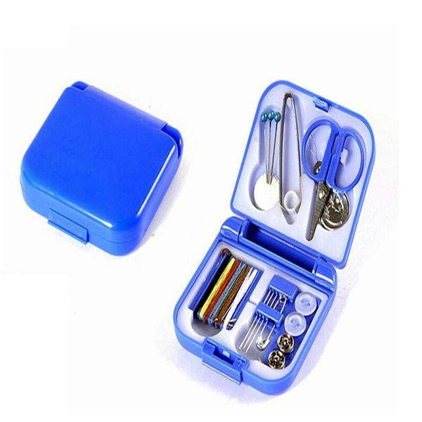 Новый горячий Портативный мини путешествия PP швейная коробка с цветными нитями швейные наборы швейный набор DIY Главная инструменты