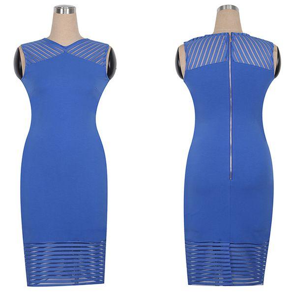 2018 Summer Autumn Fat Women's Plus Big Size Clothes Ladies Dinner Dresses Occasion Dress Party Career Office Pencil Wholesale Quality