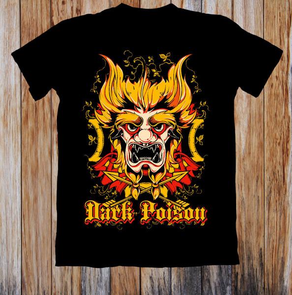 Kurzarm Freizeit Mode DUNKEL POISON RETRO UNISEX T-SHIRT gestrickte komfortable fabrict Street Style Männer T-Shirt Top Qualität Baumwolle