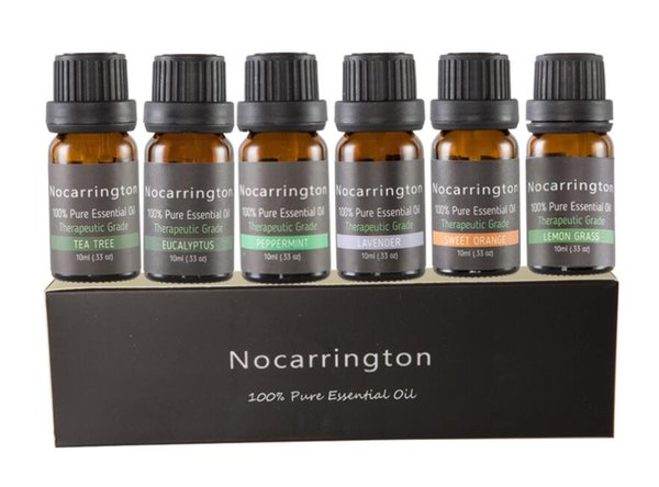 STOCK Nocarrington Beauty Aromatherapy Top 6 Essential Oil 100% Pure & Therapeutic Grade - Basic Sampler Gift Set & Kit