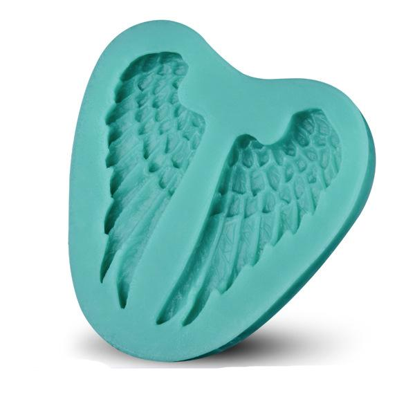 Beautiful angel wing sharp 3D Silicone cake fondant Mould tools Cookware Cake Decorating fondant mold D101