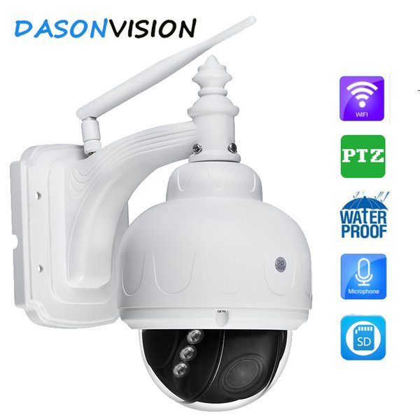 Wireless IP Camera Dome PTZ Outdoor HD 1080p Wifi 5X Zoom infrared night vision Security with microphone sd card recording p2p