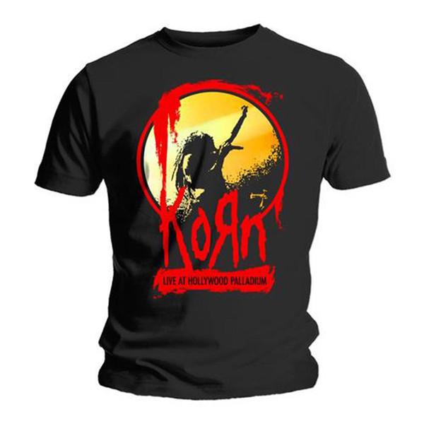Korn Jonathan Davis Live Microphone Nu Metal Official Tee T-Shirt Mens High Quality For Man Better