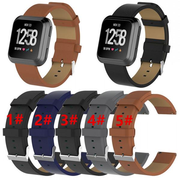 Sostituzione cinturino dell'orologio cinturino cinturino in pelle di fascia da polso 2018 di ricambio per cinturino orologio Fitbit Versa Smart Wristband VS Fitbit Charge 2