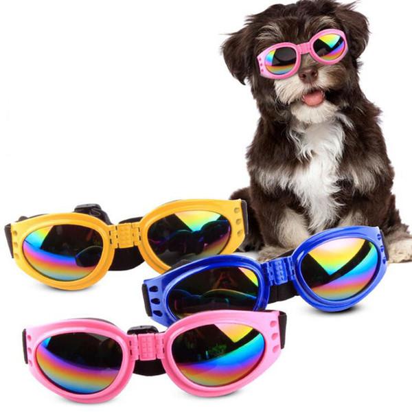 Gafas de sol plegables para perros Gafas de sol para perros pequeños y medianos Perros grandes Gafas de protección ocular UV Gafas Accesorios para acicalamiento 6 Color