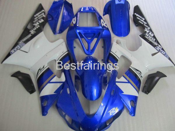 High quality fairing kit for YAMAHA R1 1998 1999 white black blue fairings YZF R1 98 99 GF36
