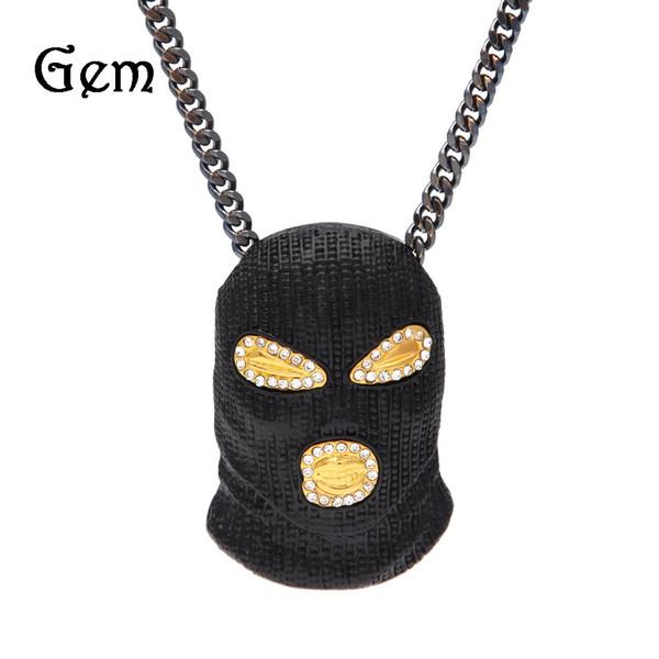 2017 новый Золотая Маска хип-хоп Bling ожерелье мужские золотые украшения замороженные женщины мужчины подарок хип-хоп CSGO ожерелье ювелирные изделия