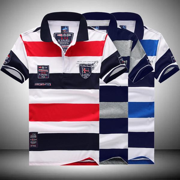 2018 mais novo tamanho ASIAN M-3XL Top qualidade camisa dos homens shark impressão tshirts roupas de marca de manga curta de luxo camisa Itália T