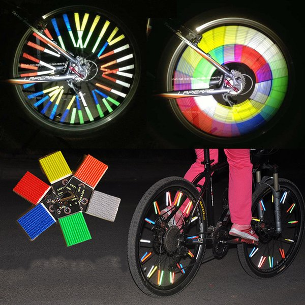 12Pcs MTB Bicycle Wheel Spoke Reflector Reflective Mount Clip Tube Warning Strip for night-time safety cool Bike accessories 20