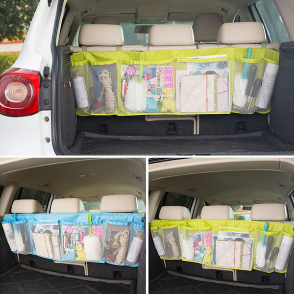 Durable Car Organizer Back Rear Trunk Seat Elastic String Holder Nets Mesh Pocket Cage Carrying Storage Bag Auto Accessorriess ARI-923