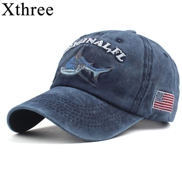8abc7c428ec Xthree 100% washed cotton men baseball cap fitted cap snapback hat for women  gorras casual casquette embroidery letter retro cap