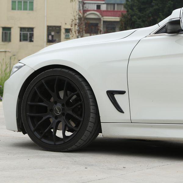 Borda lateral racing Grills asa fender aberturas decorar capa guarnição adesivo para BMW F30 318I 320I 328I 330I acessórios exteriores