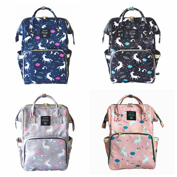 top popular Unicorn Mommy Diaper Bags Baby Nappies Maternity Backpacks Mummy Shoulder Nursing Bags Stroller Bags Travel Outdoor Bag Accessories YFA15 2021