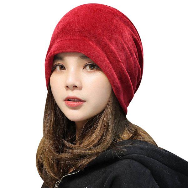 Warm Fleece Slouchy Beanie Hats For Women 2018 Winter Caps Ladies Velvet Skullies Beanie Gorro Female Baggy Hat Bonnet Femme