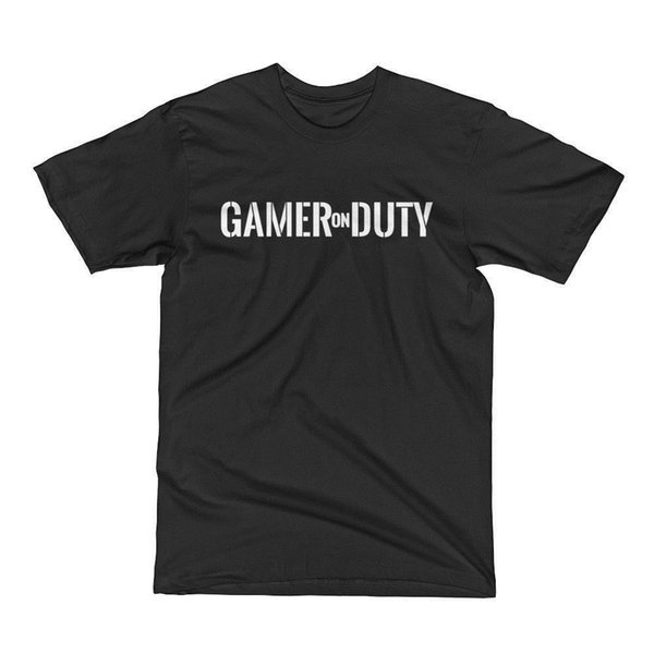 New Men's GAMER ON DUTY MADE IN USA 2018 New Mens T Shirts