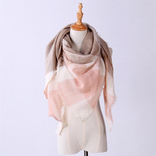 27 Farbe Frauen Winter Dreieck Schal Marke Designer Schal Kaschmir Plaid Schal Großhandel Direktvertrieb TO999
