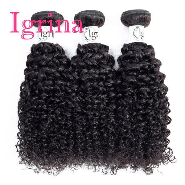 Igrina Brazilian Virgin Hair Curly 3 Bundles Deals Unprocessed Good Cheap Weave Human Hair Extensions Wet And Wavy Human Hair Deep Curly