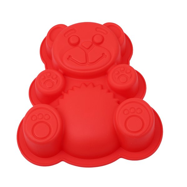 3D Lovely Bear Form Cake Mold Silicone Mold Baking Tools Kitchen Fondant Cutters Taart Decoratie Silikonowe Formy 3D