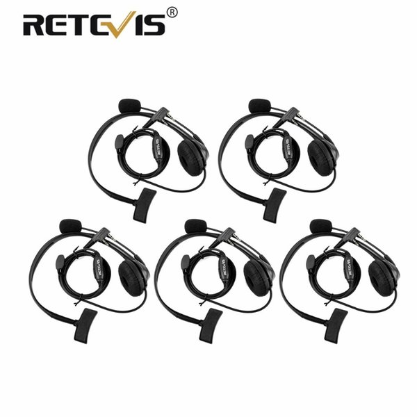 5pcs 2Pin PTT MIC Headset Sponge Earpad Earpiece Kenwood For Baofeng UV-5R BF-888S UV82 RETEVIS H777 RT5 RT7 RT21 Ham Radio