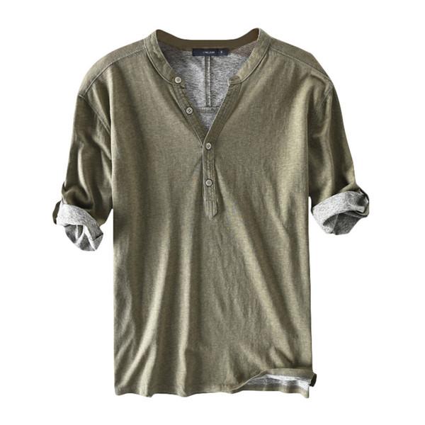 Verde do exército camiseta