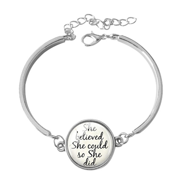 2018 Personalized Jewelry Family Names Word Bracelet Gift For Family Friend Glass Cabochon Bracelet 5 Styles