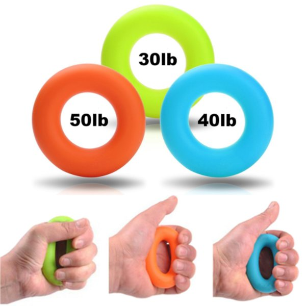 7cm Grip Hand Forearm Grip Ring Muscle Power Training Rubber Ring Exerciser Gym 30-50g Weights Strength Gripper Finger