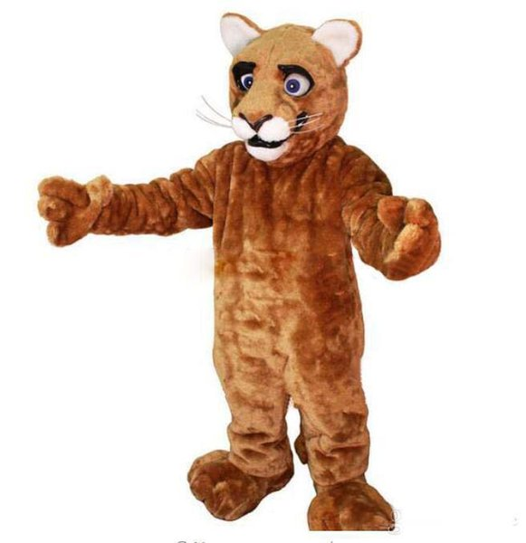Little Leopard Panther Cat Cougar Cub Mascot Costume Adult Size Cartoon Character Mascotte Mascota Outfit Suit Fancy Dress