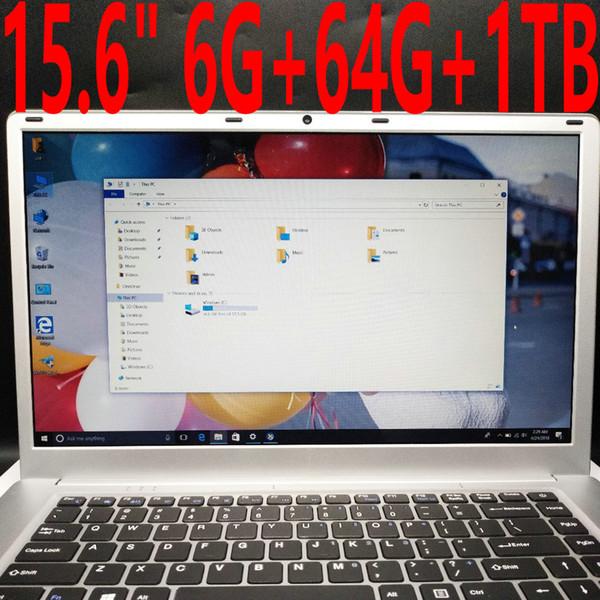 15.6 inch 1920x1080 FHD Screen Ultrathin laptop Intel Apollo Lake N3450 1.1-2.2 GHz Quad core 6GB RAM 500GB 1TB HDD Netbook wifi Windows 10