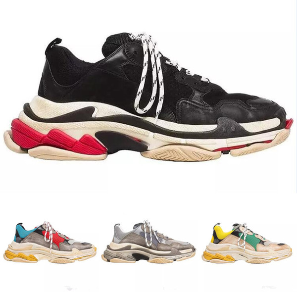 Hot Sale!! 2018 INS New Paris 17FW Triple-S Walking Shoes Luxury Dad Shoes Unisex Men Women Sports Sneakers Trainer Comfort Casual Shoes