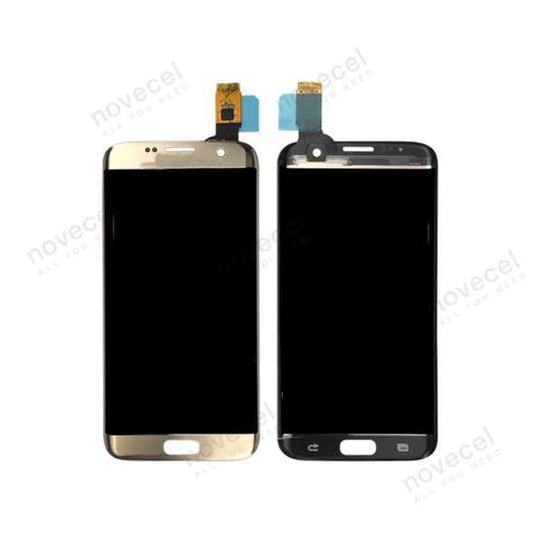 5pcs ORI G935F Front Glass + Touch panel + Polarizer Film Assembly For S7 Edge Touch Screen Digitizer Replacement Parts