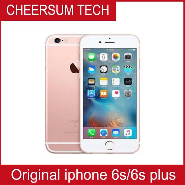 Original unlocked iphone 6 plu with touch id 12mp camera cell phone 4 7 5 5 039 ip 2gb ram 16 64 128gb rom io lte refurbi hed cellphon