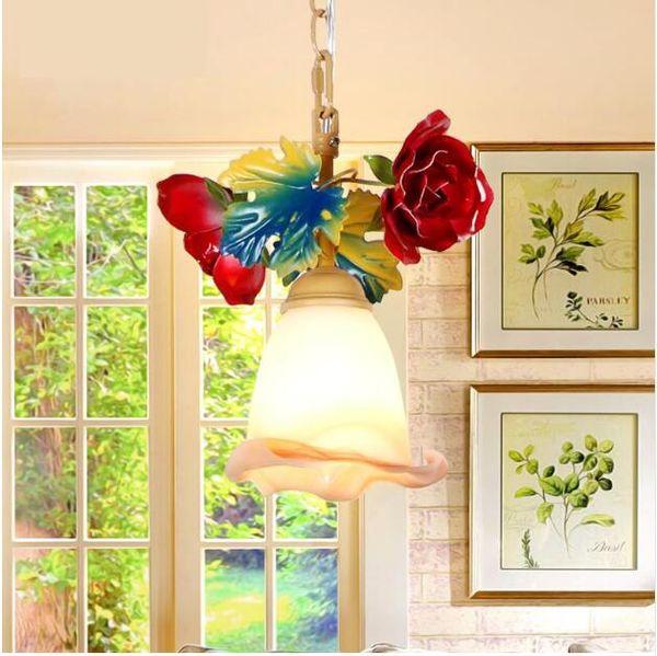 SVITZ Dining Room Led pendant light Garden decoration ceiling lamps Balcony Aisle Single Head kitchen Rose hanging lamp