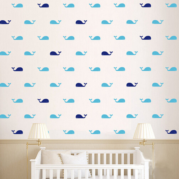 Home Decoration Stickers Posters Stickers 30pcs/set Whale Decal Fish Whales Wall Sticker , Cartoon Marine style DIY Decoration Wall Art