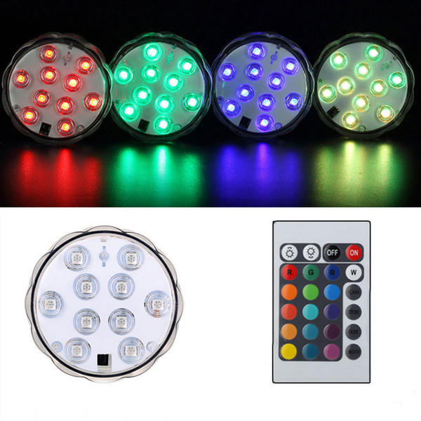 Mini Submersible Led Aquarium Lampe Étanche Lampe RGB Télécommande Pour Fish Tank Lampe Colorée Extérieure Gadgets OOA5471
