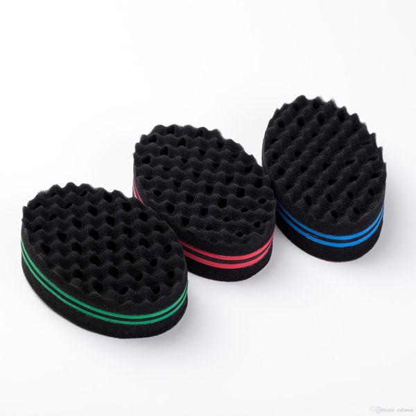 Double face petite vague cheveux Twists brosse éponge magique pour la bobine de verrouillage afro curl outil de coiffeur rouleau de bigoudi
