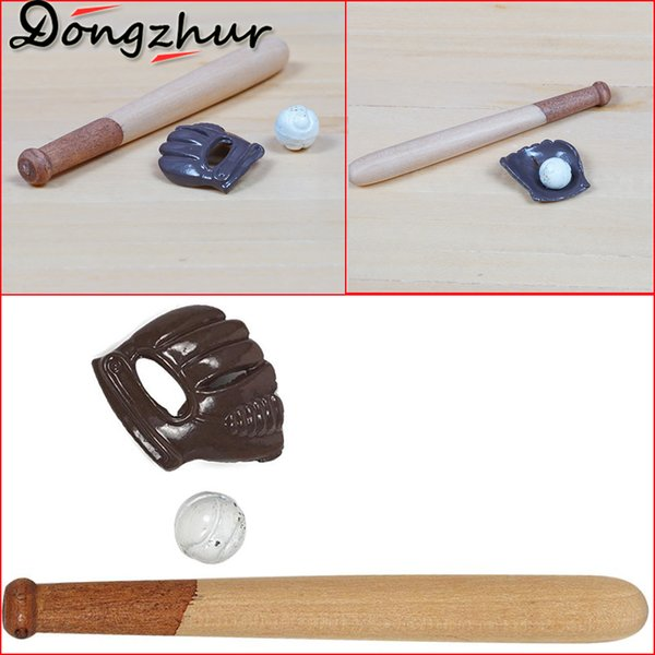 New Dongzhur Mini 1:12 Dollhouse Accessories Doll House Furniture Baseball Supplies Set Mini Garden Accessories DIY QTM9387