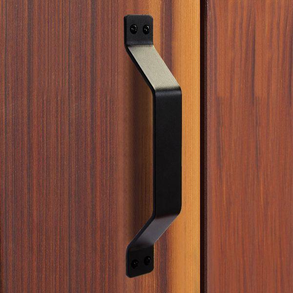 top popular Barn Door Handle Black Solid Steel Gate Handle for Sliding Barn door Gate Cabinet Garages Sheds Pull 2021