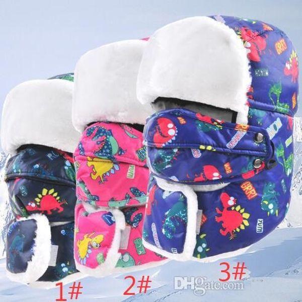 2017 Prevent Fog haze Child Winter fur hats Windproof Thick warm winter snow kid's cap Face Mask boy girls hat TO257