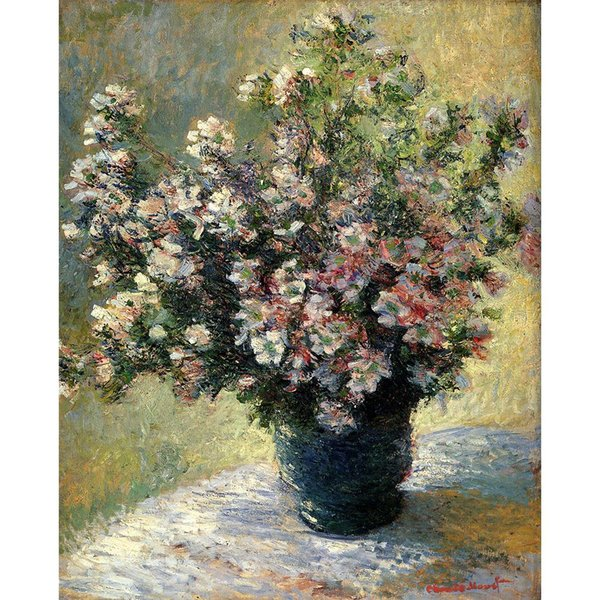 Claude Monet Gemälde von Vase mit Blumen handgemachte Leinwand Kunst für Schlafzimmer Hohe Qualität
