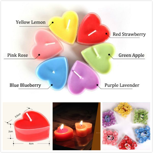 Romantic Valentine's Day Exquisite PVC Boxed Heart-shaped Jelly Aromatherapy Candles Proposal Tea Wax Wedding Birthday Decorating