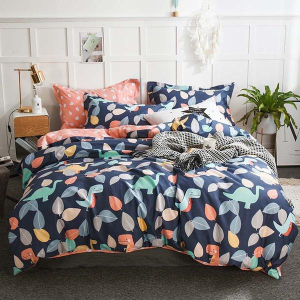 100% cotton comfortable bedding sets duvet cover set flat sheet pillowcase bed linen Twin Queen king size