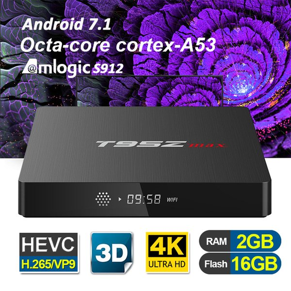 Amlogic S912 4k ultra smart tv box T95Z MAX 3GB 2GB RAM 32GB 16GB ROM 5G-WiFi Bluetooth Octa core Android-TV-Box Streaming Media Player