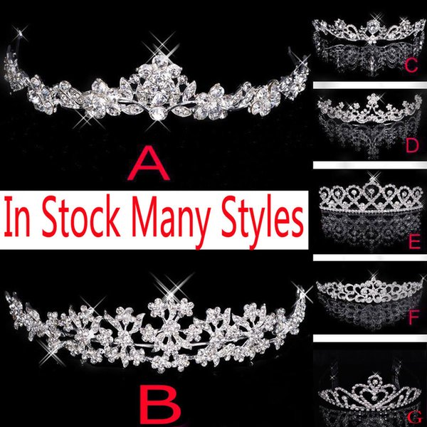 In Stock 2018 Stylish Bridal Crown Royal Wedding Tiara Hot Sell Party Pageant Headpieces Queen Head Jewelry Hair Accessory Free Shipping